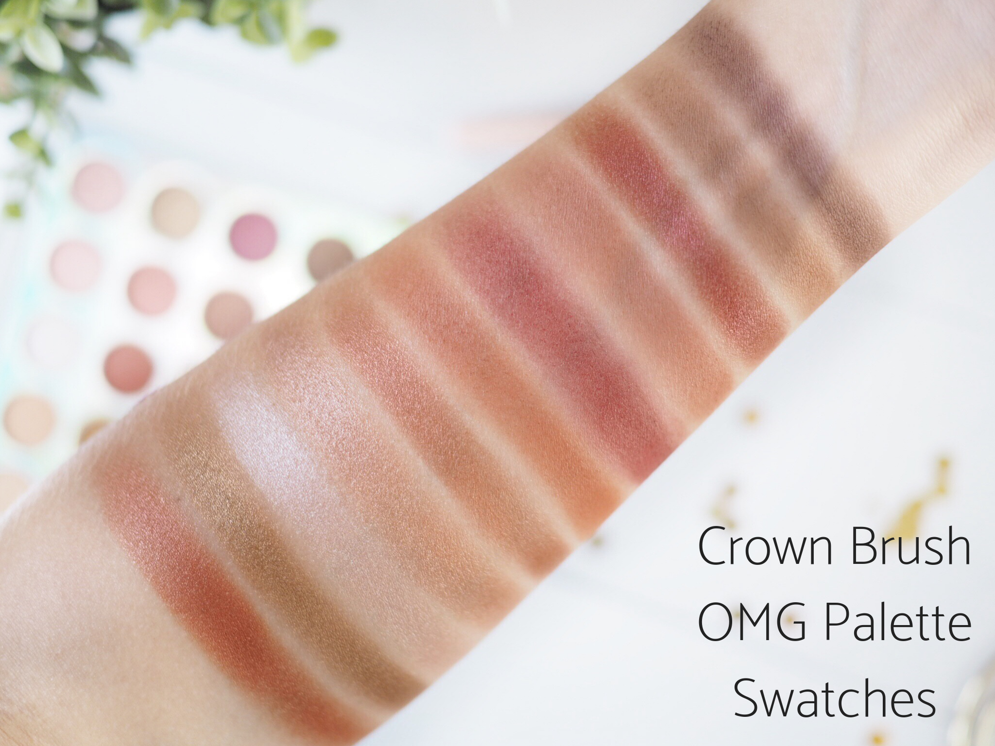 Crown Brush OMG Swatches