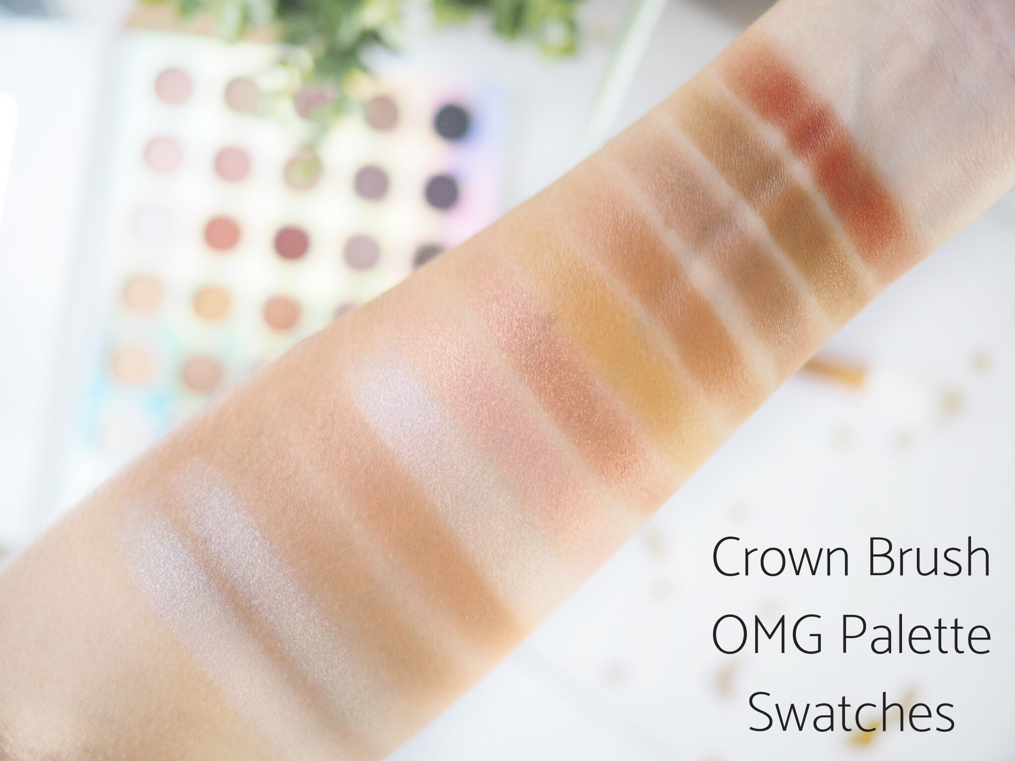 Crown Brush OMG Palette Swatches