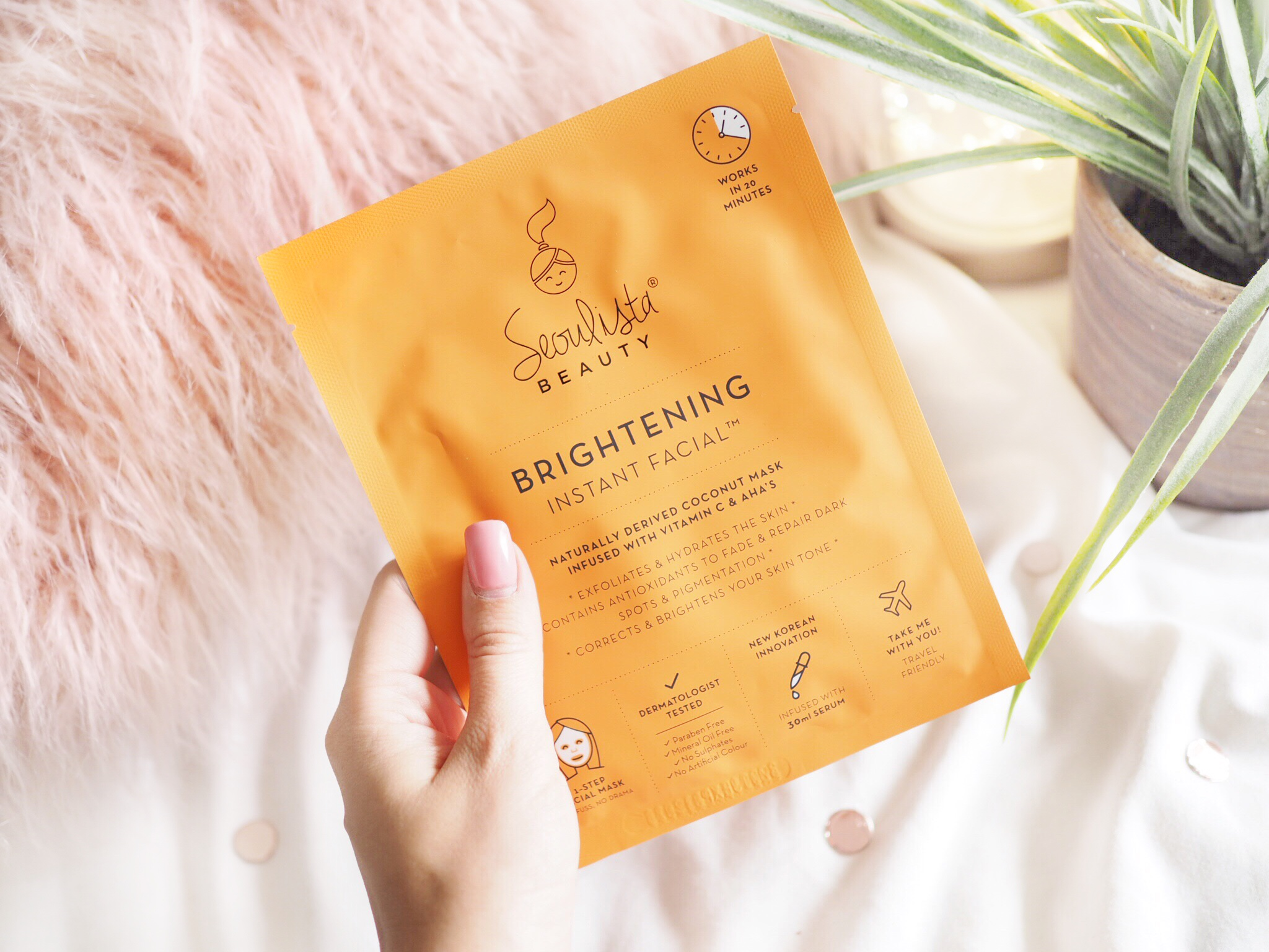 Seolista Brightening Instant Facial Sheet Mask Review