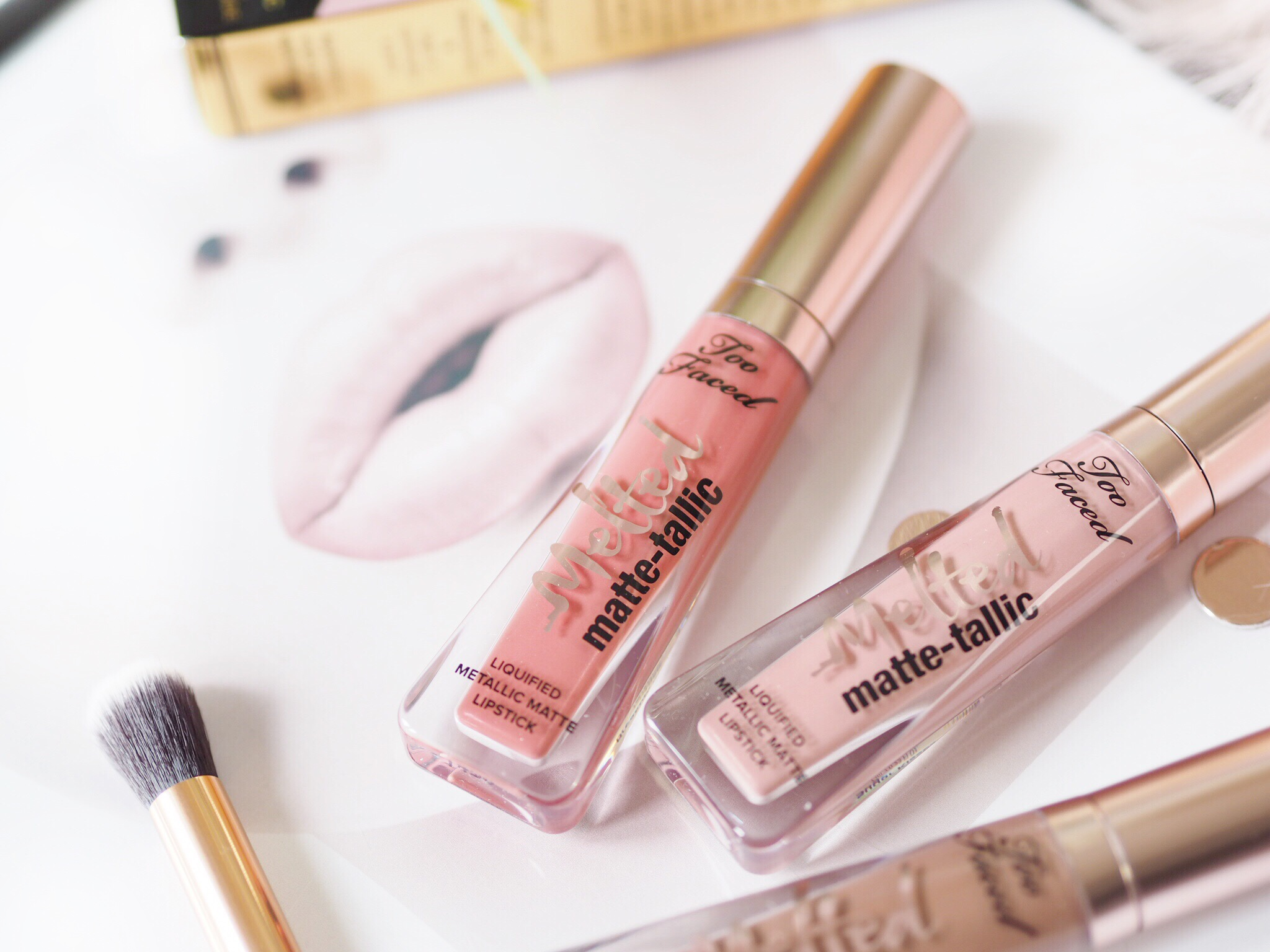 Too Faced Melted Matte-Talic Lipsticks