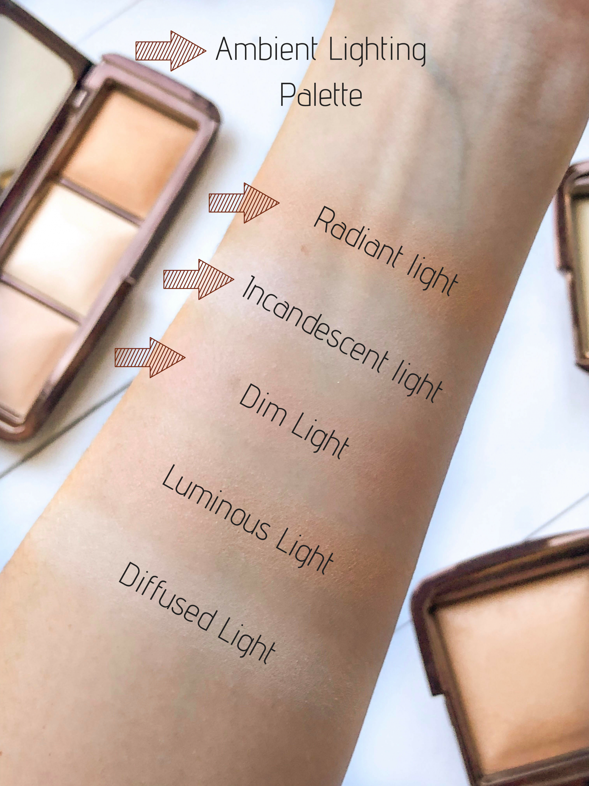 Hourglass Ambient Lighting Powders Swatches