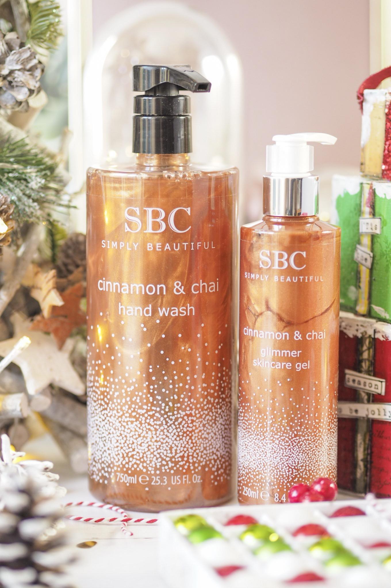 SBC Cinnamon & Chai Handwash & Glimmer Skincare Gel