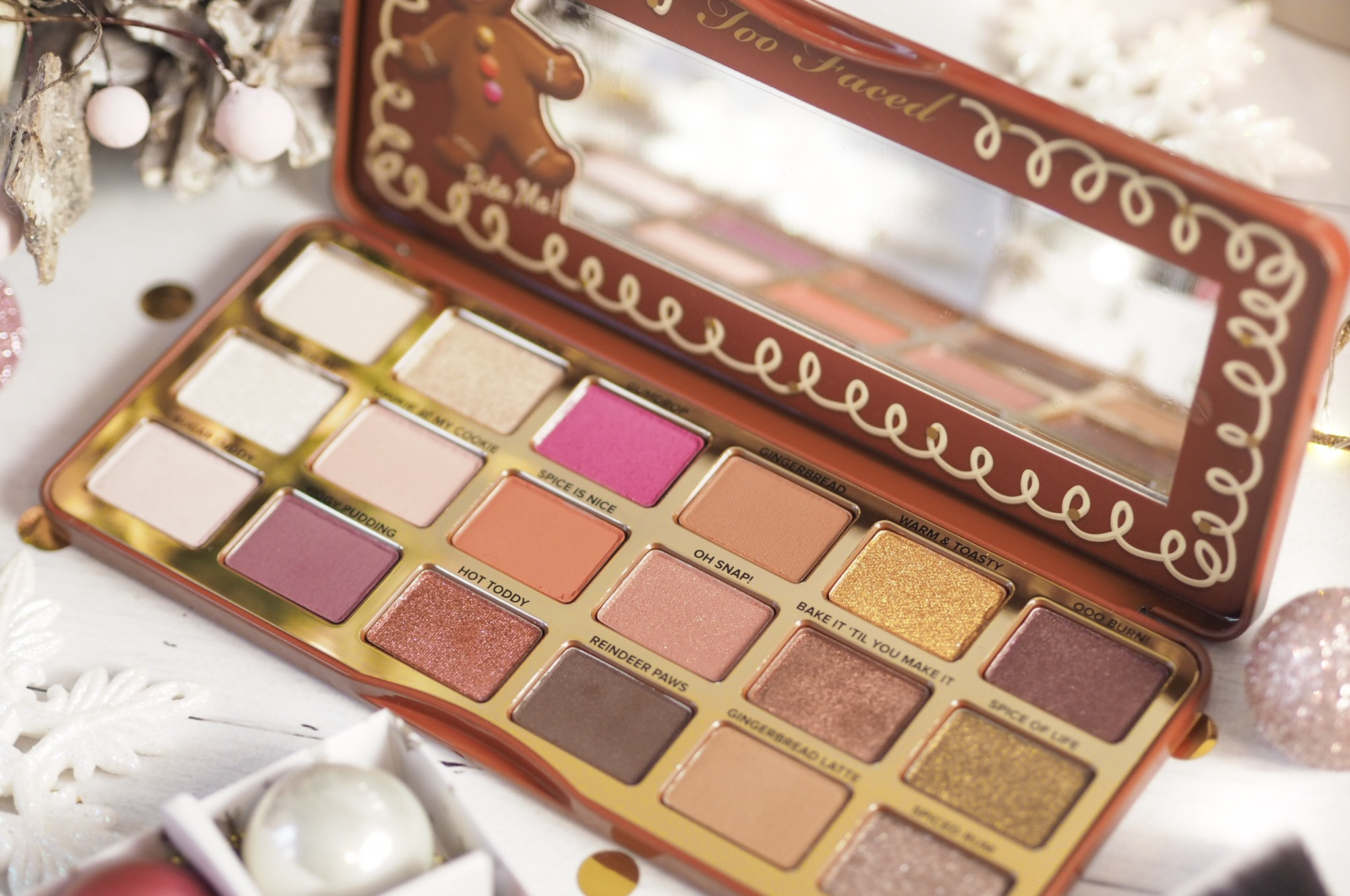 Too Faced Gingerbread Palette Review