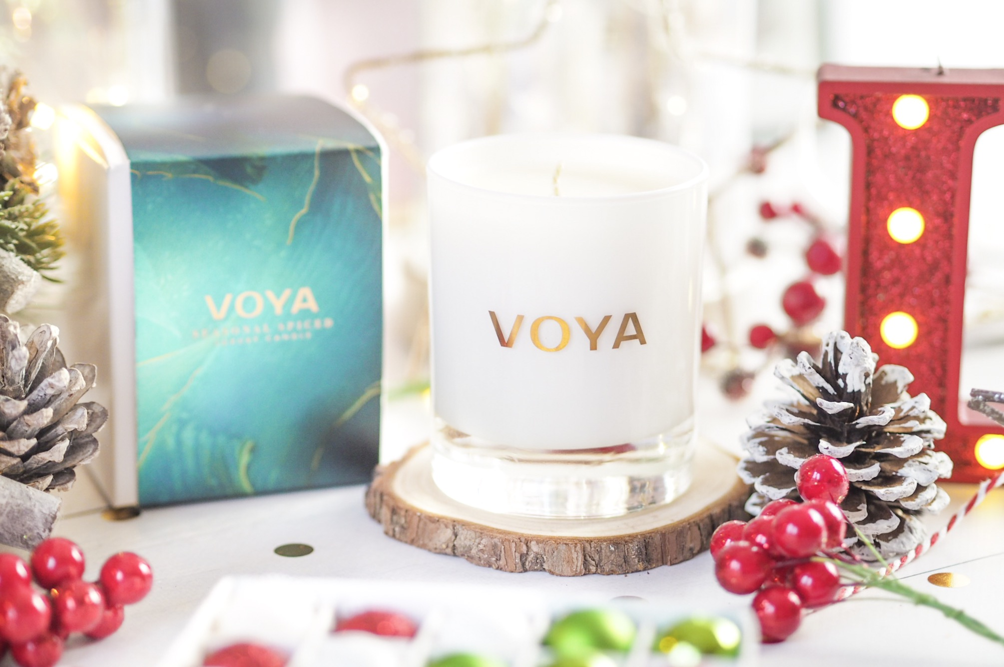 Voya Seasonal Spiced Scented Candle