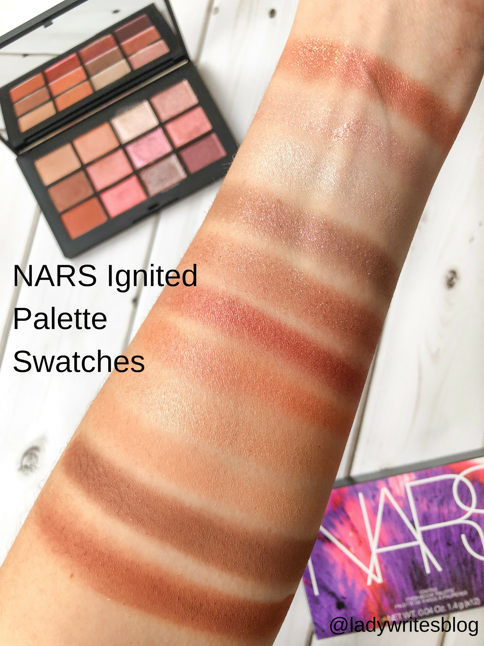 NARS Ignited Palette Swatches