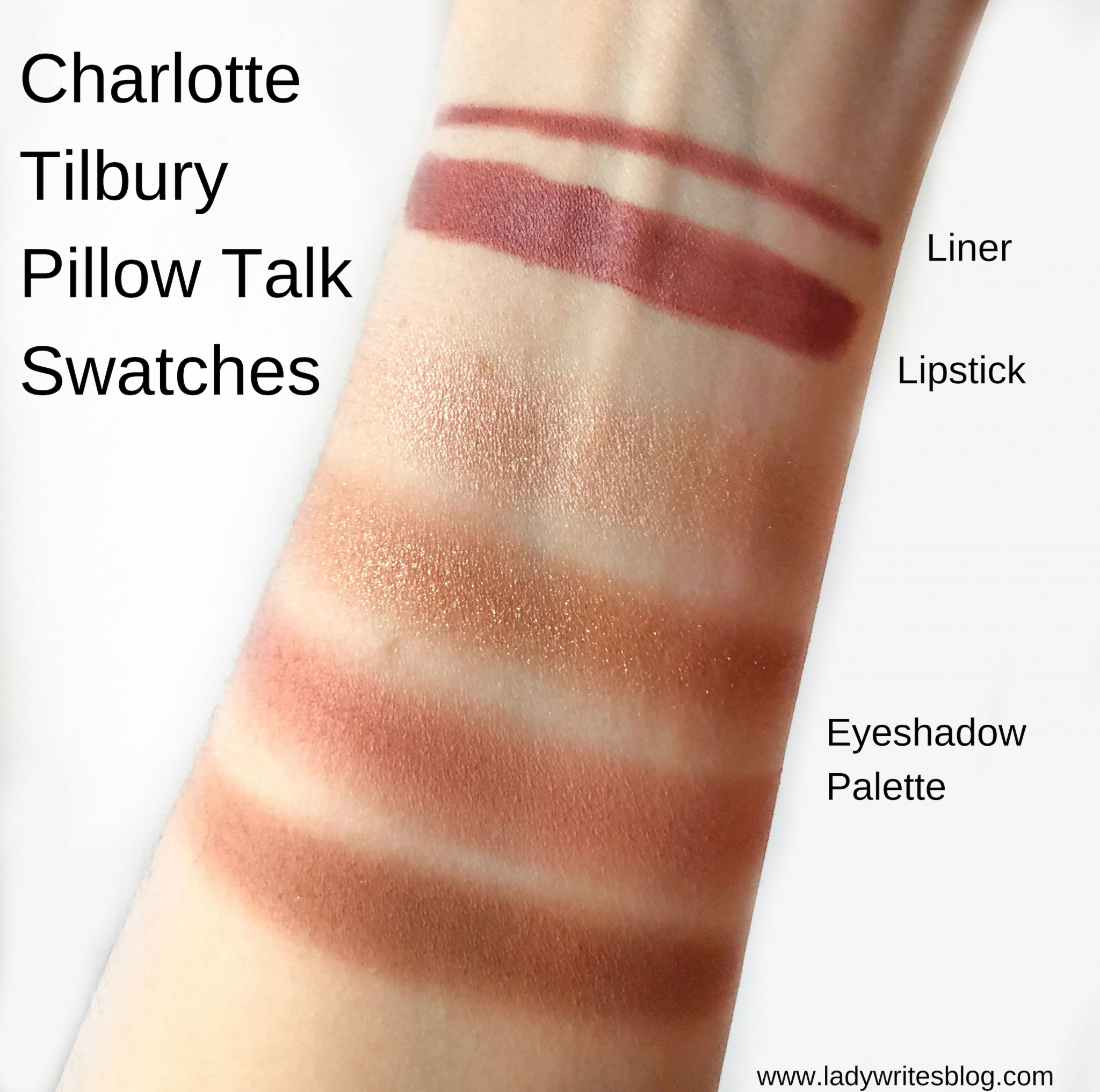 Charlotte Tilbury Pillow Talk Swatches
