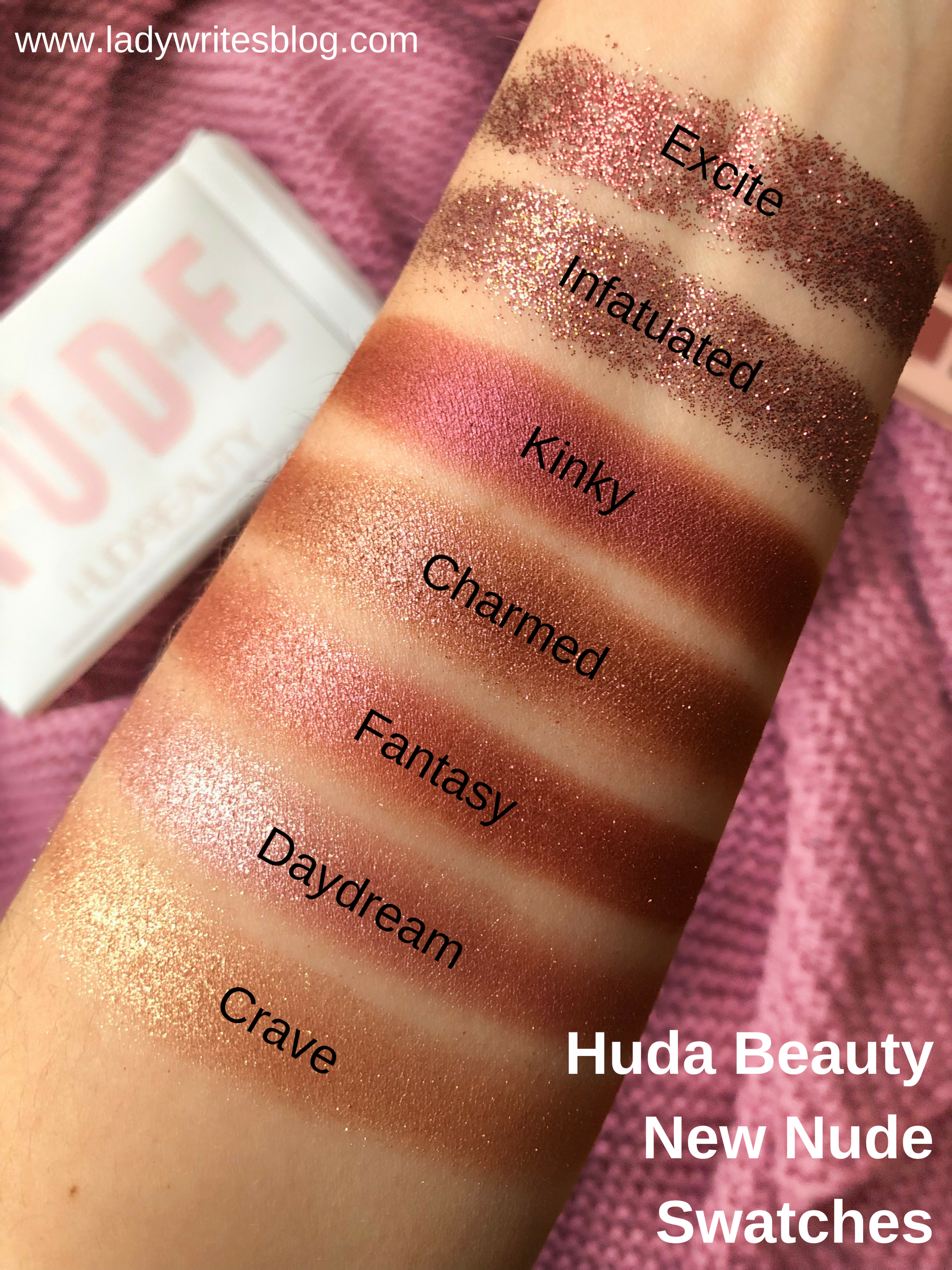 Huda New Nude Swatches