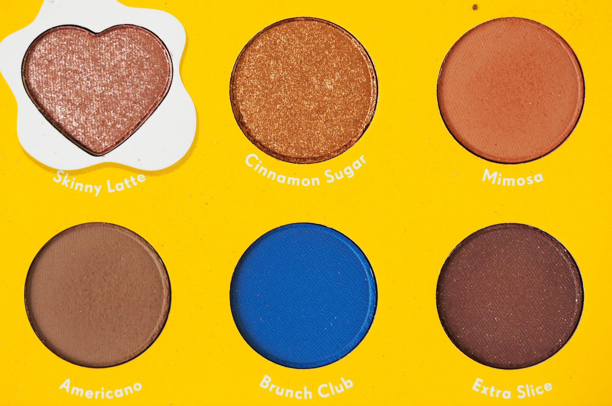 Zoella x Colourpop Brunch Date Eyeshadow Palette Review