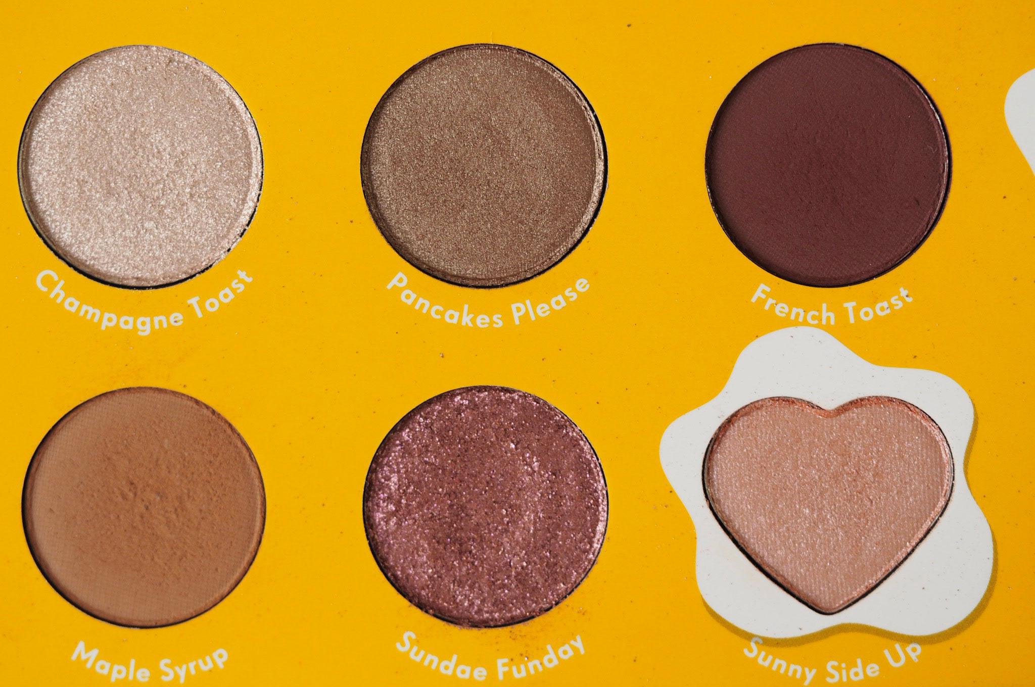 Zoella x Colourpop Brunch Date Eyeshadow Palette Shades