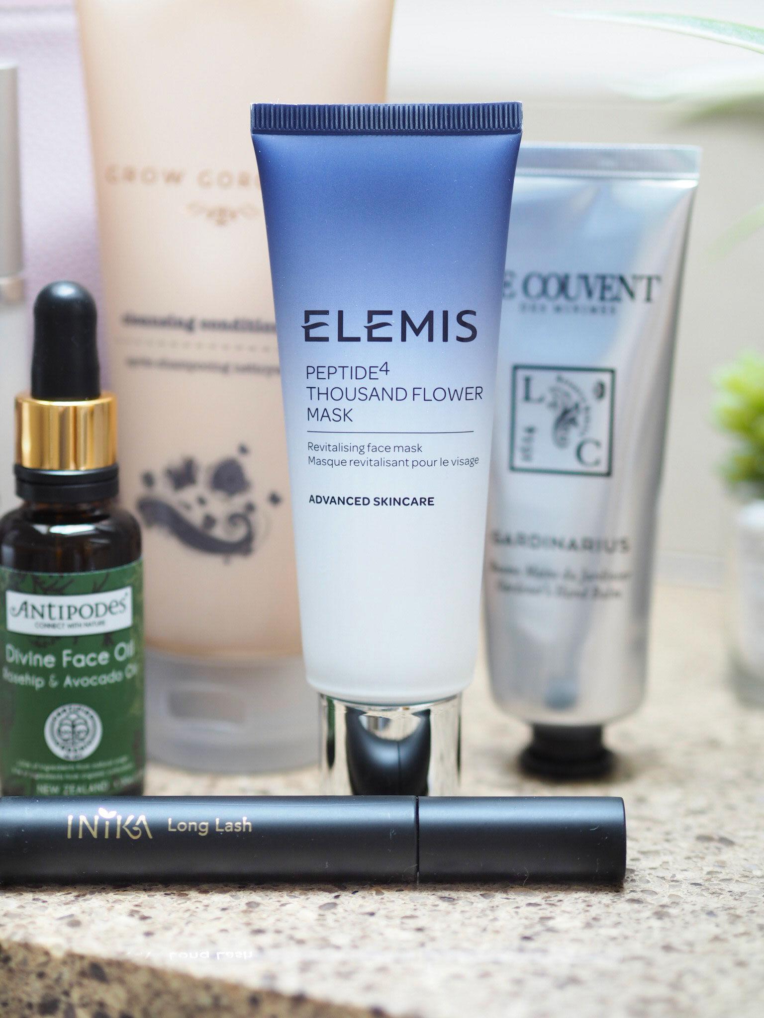 Elemis Peptide4 Thousand Flower Mask and Inika Mascara