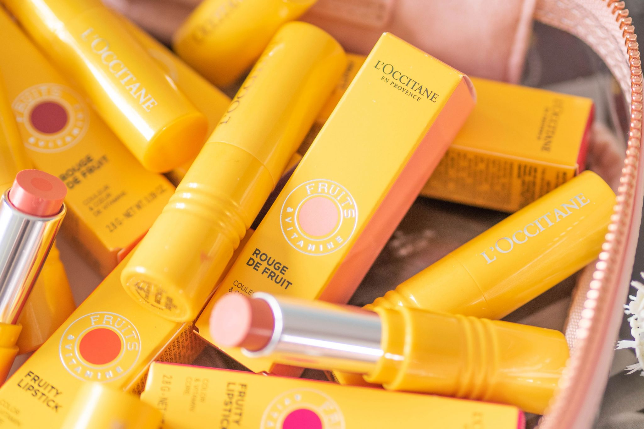 L'Occitane Fruity Lipstick Review with Swatches