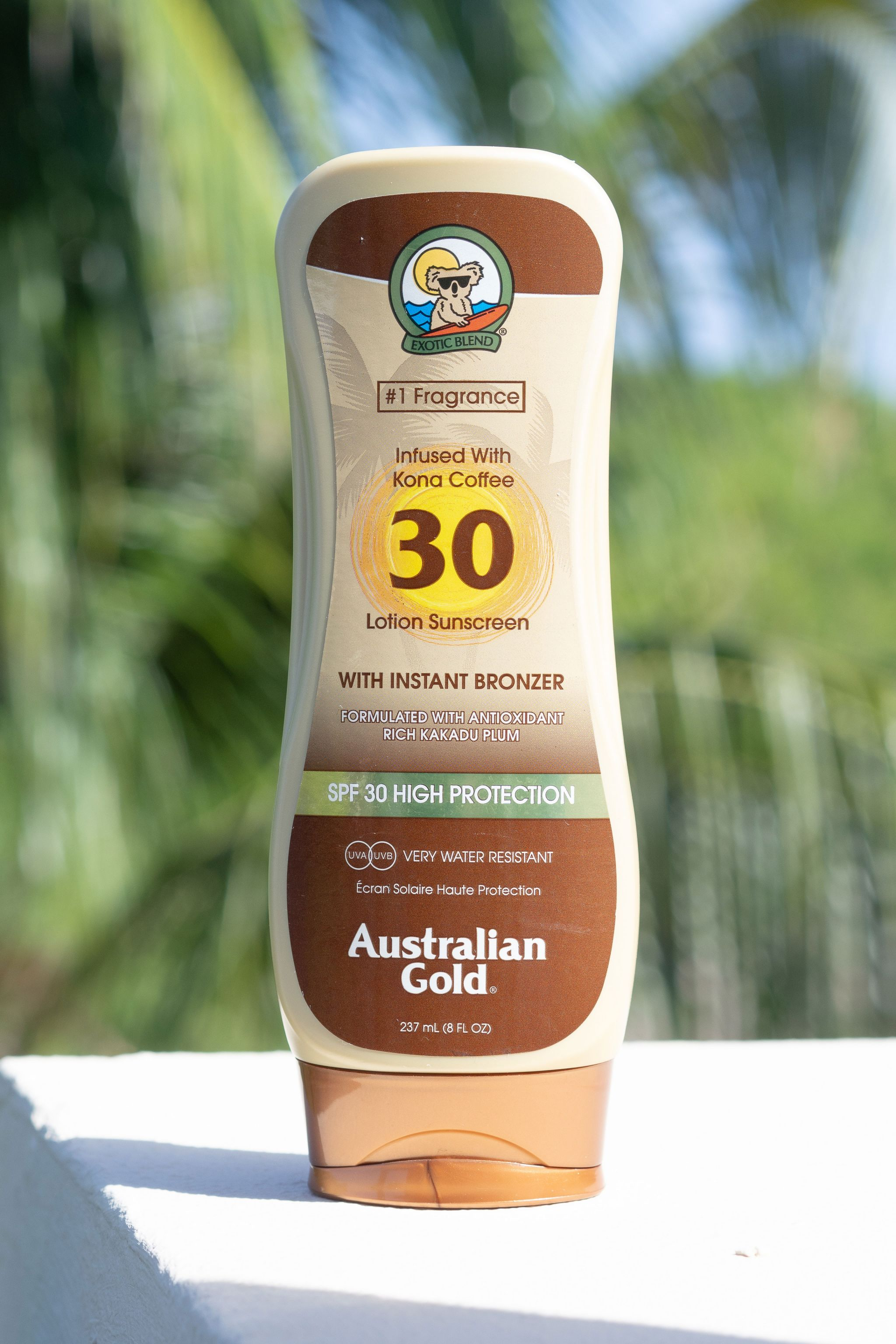 Australian Gold with bronzer review
