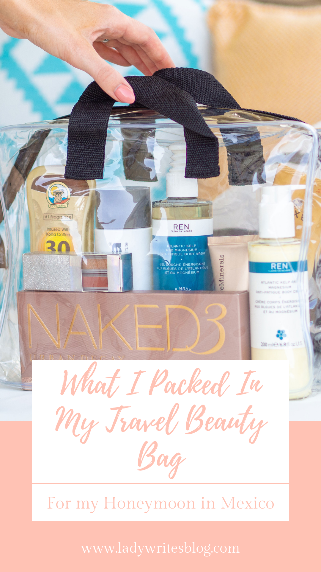 inside my travel beauty bag