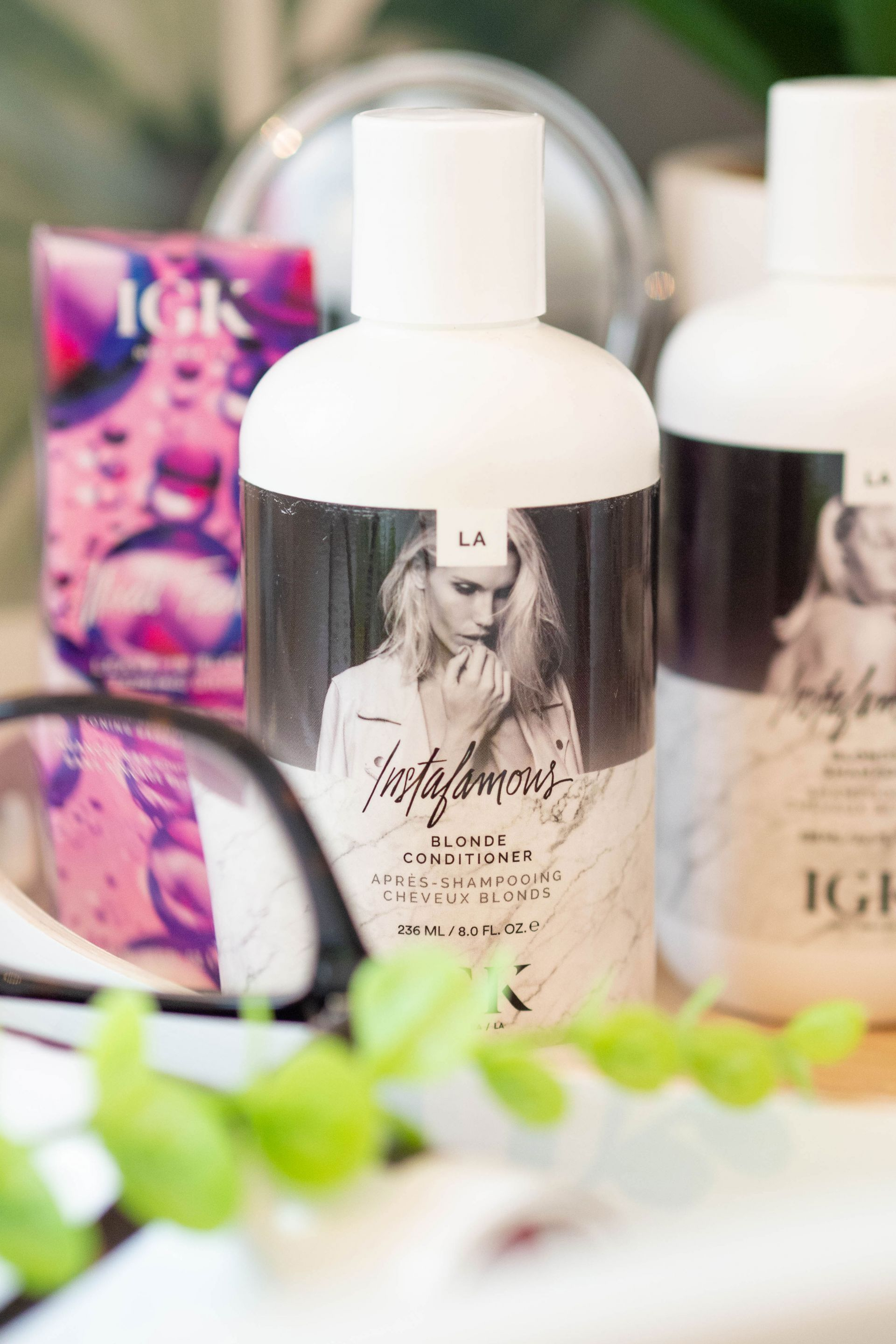 IGK Instafamous Blonde Shampoo & Conditioner for ash blonde hair
