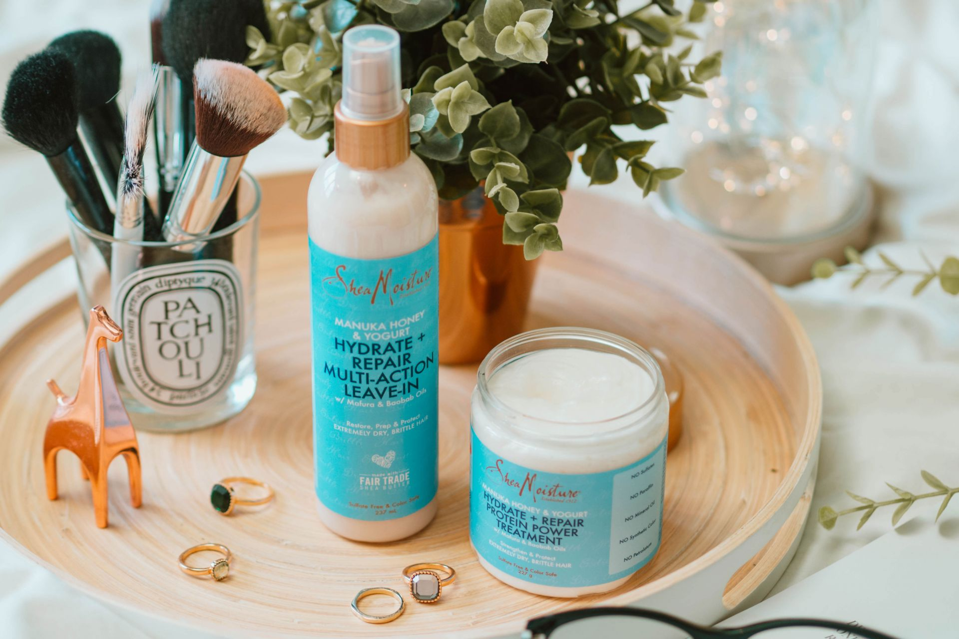 Organic hair care products - Shea Moisture Manuka Honey & Yogurt Range