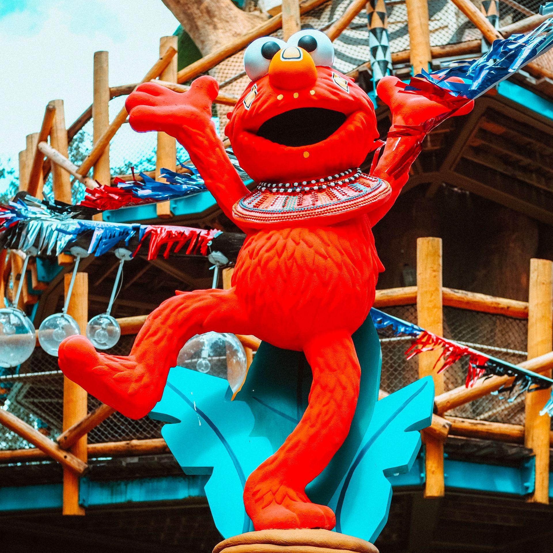 Sesame Street Elmo at Busch Gardens